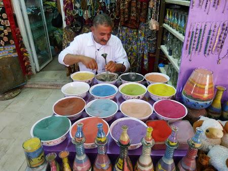 Suveniruri Iordania: nisip colorat
