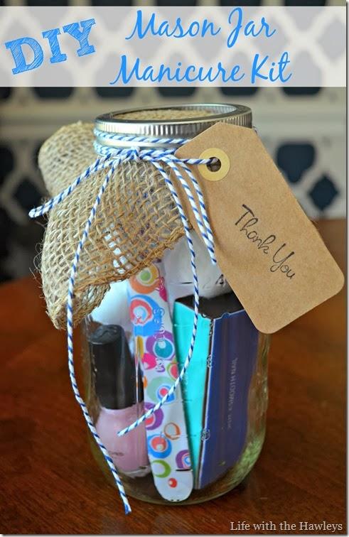 Hawley Baby Shower Hostess Gifts Diy Mason Jar Manicure Kit