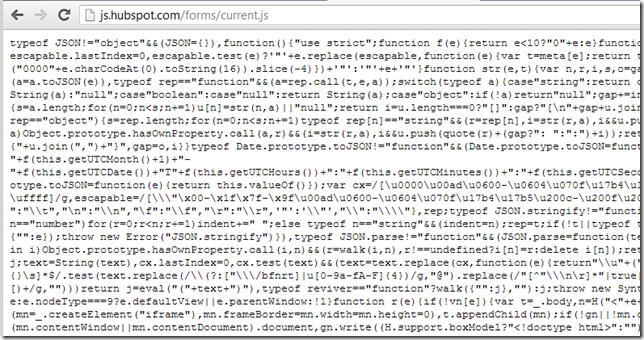 Dinis Cruz Blog: Hubspot current js code includes JQuery on it