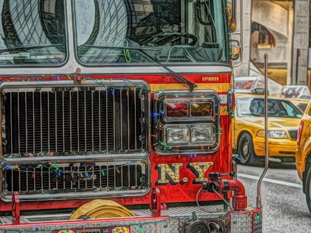 Firetruck in New York City