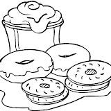Donuts Dibujos Para Colorear
