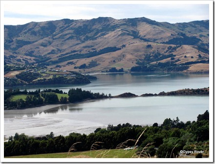 Hills and Harbour near Akaroa.