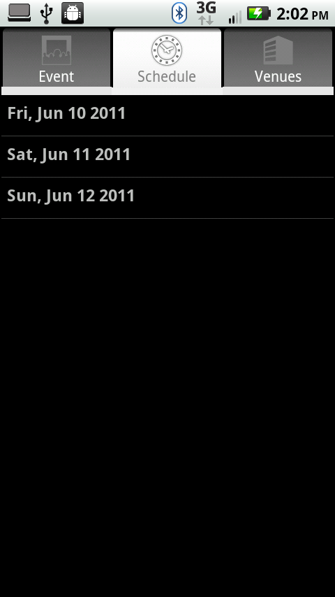 OpenSchedule for Android - screenshot