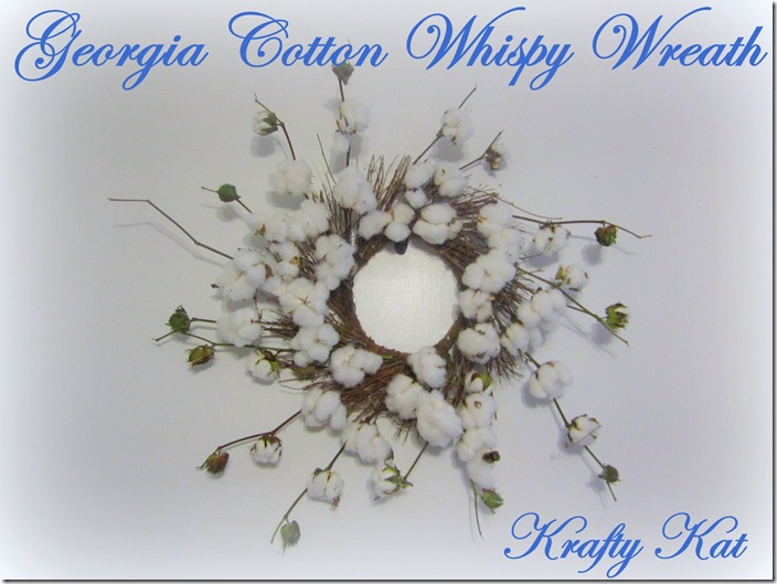 Georgia Cotton Whispy Wreath