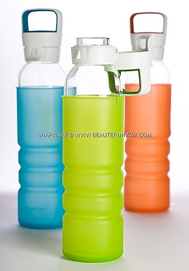SNAPWARE ECO FLIP GRIP GLASS BOTTLES WORLD KITCHEN HOMEWARE GOOD DESIGN AWARD WINNER Australian International Design Awards pure, natural recyclable ensuring  food  safety  and personal health, perfect for the environmental healthy