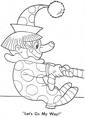 palhaço-colorir-Clowns To Color-coloring page-00017