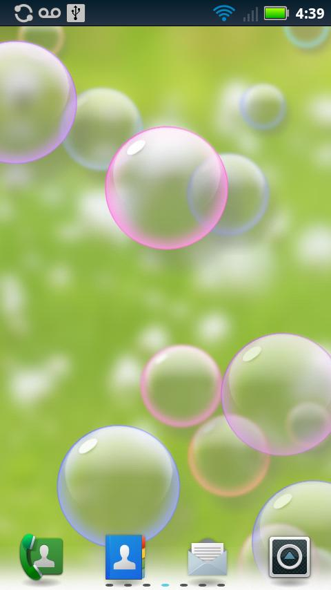 Bubbles Animated Wallpaper - screenshot