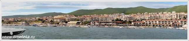 Панорама Святого Власа.Вид с моря. Болгария. www.timeteka.ru