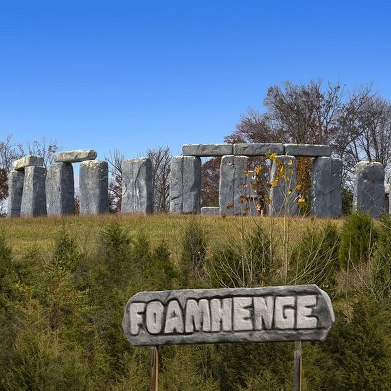 Foamhenge - Stonehenge Replica in Virginia Built of Styrofoam