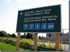5319 Ontario - Sault Sainte Marie, ON - Sault Ste. Marie Canal National Historic Site sign