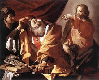 Thánh Mát-thêu tường thuật về việc Chúa Giêsu kêu gọi chính ông / Lễ kính Thánh sử Mát-thêu