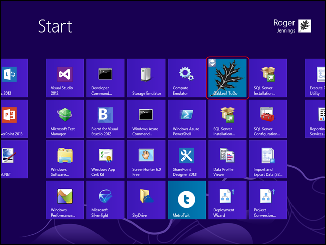 1-4 Start Menu with Standard Tile