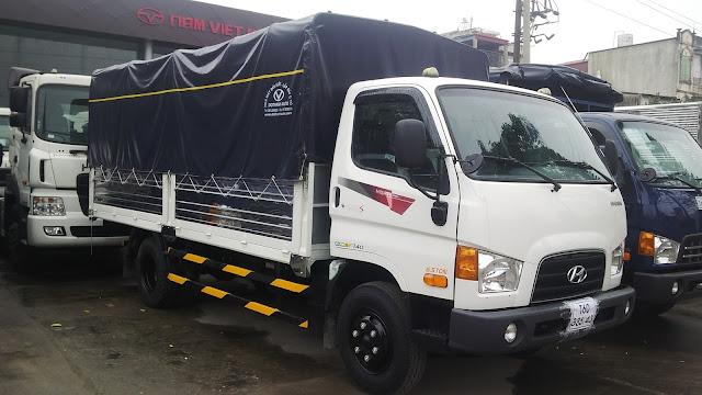 Xe tải Hyundai HD99 Đô Thành nâng tải 7 tấn thùng bạt, thùng kín -Hình 1