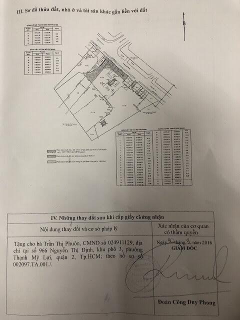 Bán đất chính chủ Mặt Tiền Đường Nguyễn Thị Định Phường Thạnh Mỹ Lợi Quận 2 Tp HCM 2
