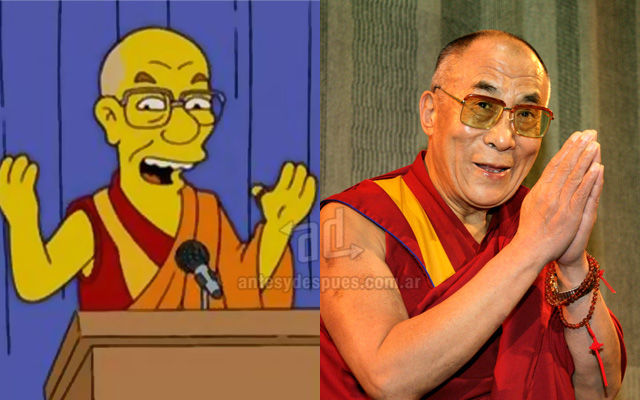 Foto de la version Simpson de Dalai Lama