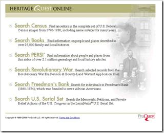 旧的heritagequest界面