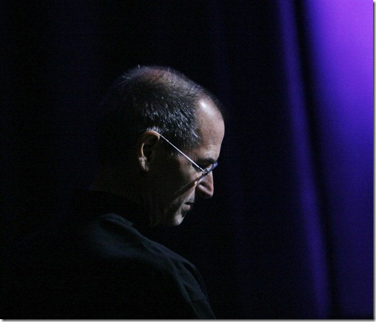 Steve Jobs, chief executive officer of Apple Inc., listens to several of the company's application partners speak after announcing the new iPhone 3G and 2.0 software update during the Worldwide Developers Conference in San Francisco, CA, Monday, June 9, 2008.  Jobs also announced Apple's  goal of distributing the iPhone in 70 countries around the world and its new retail price of $199. AFP PHOTO / Ryan Anson (Photo credit should read Ryan Anson/AFP/Getty Images)