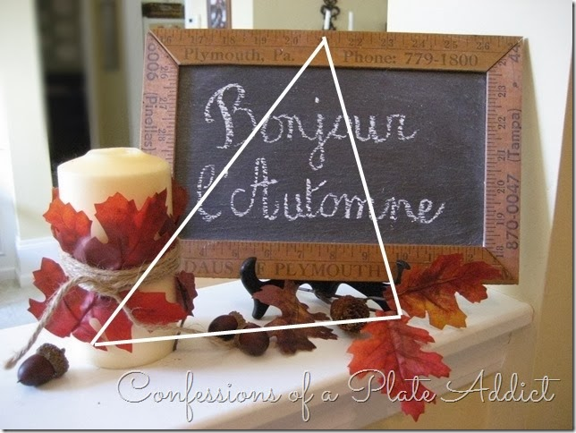 CONFESSIONS OF A PLATE ADDICT Autumn Greeting with Triangle