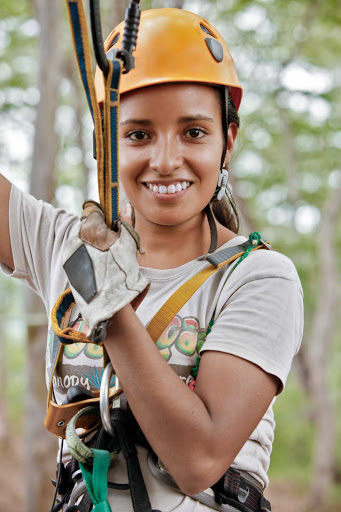 Mazatlan-Huana-Coa-canopy-tour - A local woman preps for a zipline during a canopy tour in Huana Coa, north of Mazatlan, Mexico.