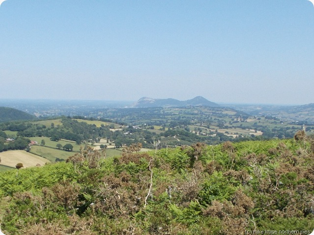 view towards England from Y Golfa