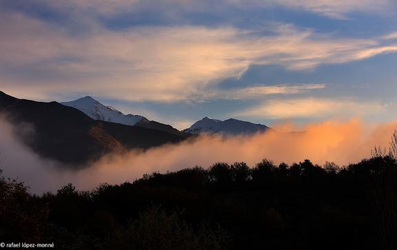 Boires matinals prop del poble de Gotarta.El pont de Suert, Alta Ribagorca, Lleida