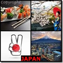 JAPAN- 4 Pics 1 Word Answers 3 Letters