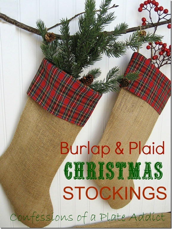 CONFESSIONS OF A PLATE ADDICT Burlap and Plaid Stockings6