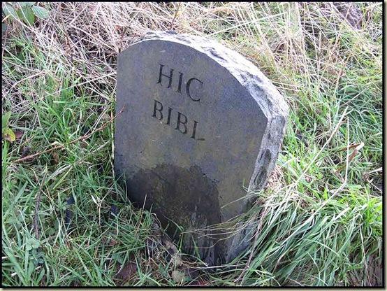 Hic Bibi ('Here I drank' - Oliver Cromwell)