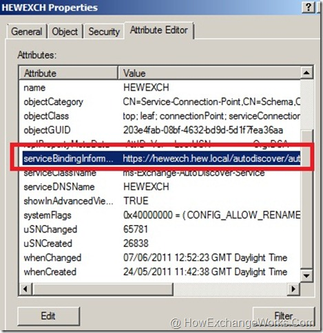Service Connection Point (SCP) In Exchange 2010… -