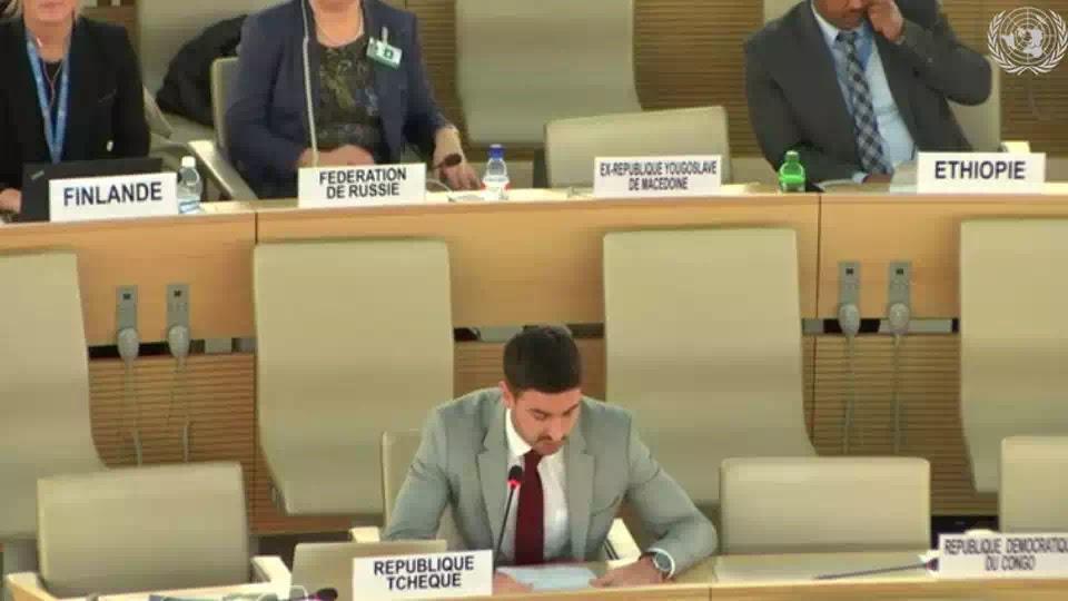 Đại diện chính phủ Cộng hoà Czech, phát biểu tại phiên điều trần UPR của Việt Nam ở Hội đồng Nhân quyền Liên Hiệp Quốc, Geneva, ngày 22/1/2019.