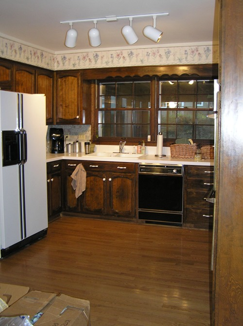 outdated kitchen before