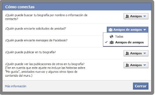 evitar recibir invitaciones en Facebook de todo el mundo