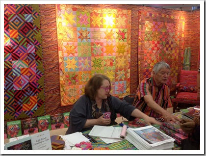 Quilt Market Houston 2012, Kaffe Fassett booth