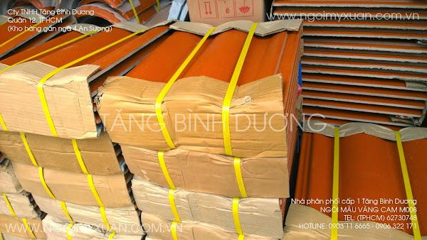 Ngói màu vàng cam Mỹ Xuân mã số M008