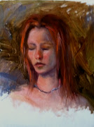 Today was a great day for me getting to paint a very lovely red head model.