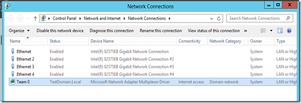 MPECS Inc  Blog: Server 2012–Unidentified Network with Team