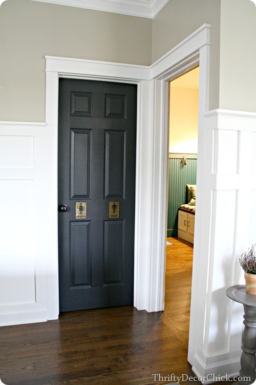 black interior doors white trim