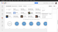 New Google Plus design Circles tab
