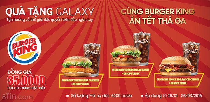 Tết này, các khách hàng Samsung có cơ hội ăn Burger thả