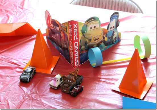 Tablescape for Planes and Cars the Movie Party- #shop #WorldofCars