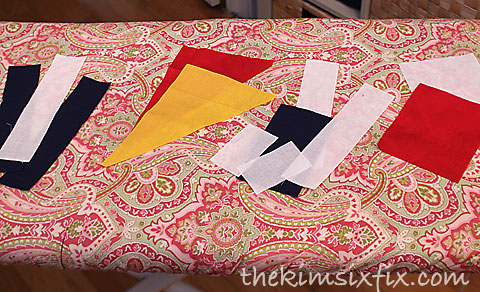Assembling maritime flags