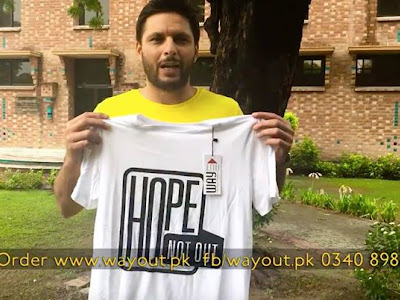 Buy HopeNotOut Official Tee and donate to Shahid Afridi Foundation Your donations