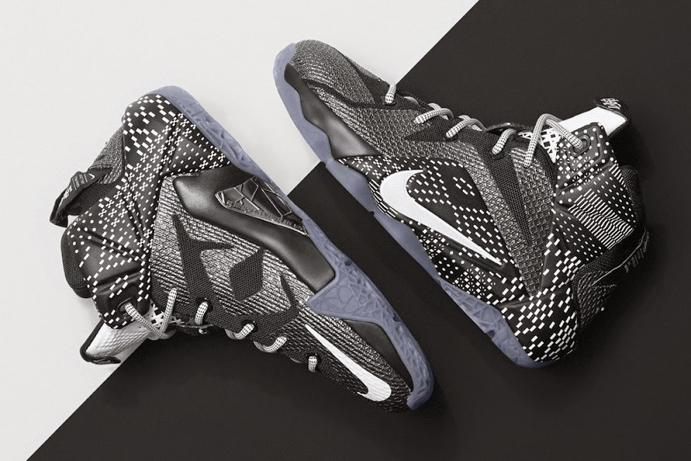 sale retailer 45fd3 e1ca2 718825-001 Black Metallic Silver-White. LeBron 12 BHM Oficially Unveiled by  Nike Basketball ...