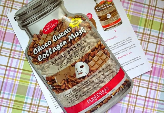 Purederm Choco Cacao Collagen Mask