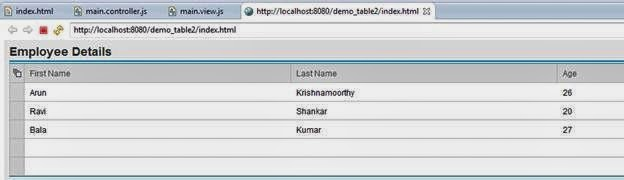 Creating a Table in UI5 - Team ABAP