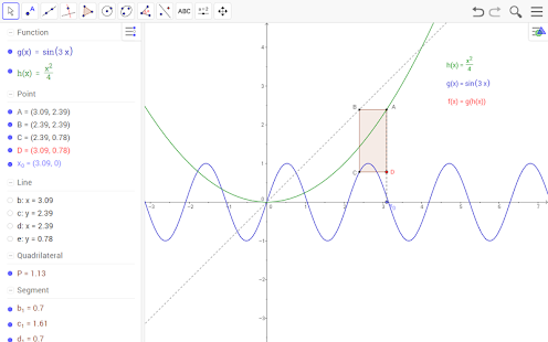 GeoGebra - screenshot thumbnail