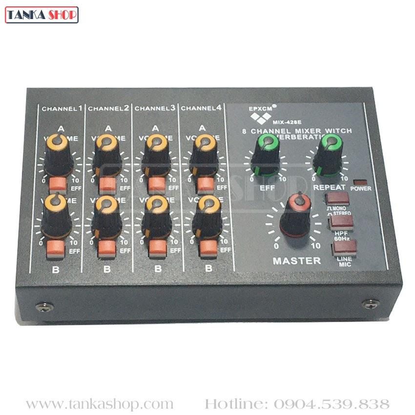 Bộ trộn âm thanh 8 kênh Mixer MIX-428E