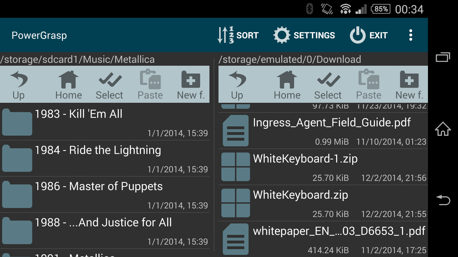 PowerGrasp file manager- screenshot