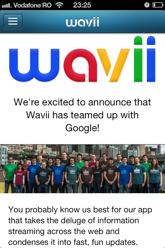 Wavii closing down, bought by Google