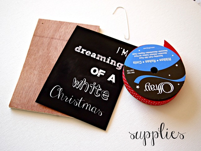 chalkboard ornament supplies